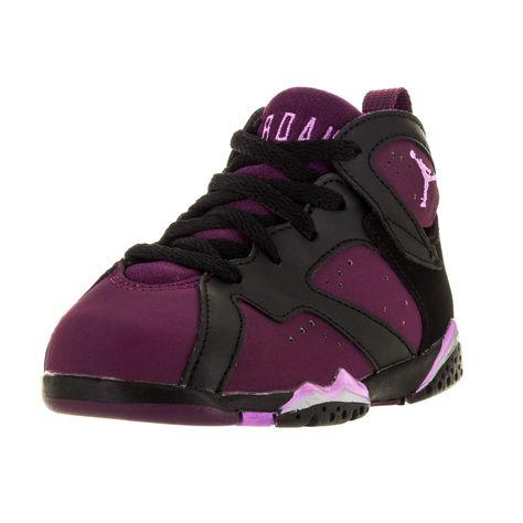 Nike Jordan Toddlers Jordan 7 Retro GT Black/Fuchia Basketball Shoes