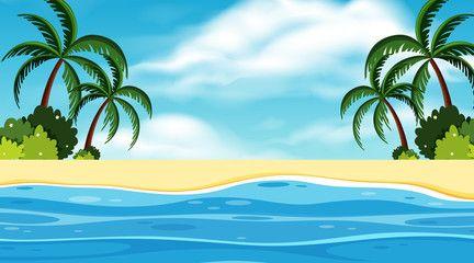 Landscape Background Design Of Ocean At Day Time Ad Design Background Landscape Time Day Ad In 2020 Background Design Landscape Background Background