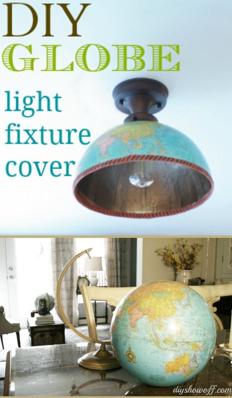 Thrifty DIY shade replacement using a globe