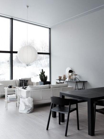 24 Ideas Living Room Grey Black White Scandinavian Interiors Livingroom Minimalist Dining Room Home Decor Minimalist Living Room