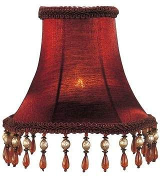 Astoria Grand 5 H Silk Shantung Bell Candelabra Shade Clip On In Burgundy Wayfair In 2020 Lamp Shade Lamp Chandelier Shades