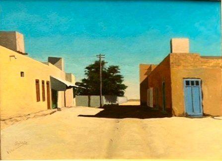 عمل الفنان القدير محمود الرضوان Painting Art Outdoor
