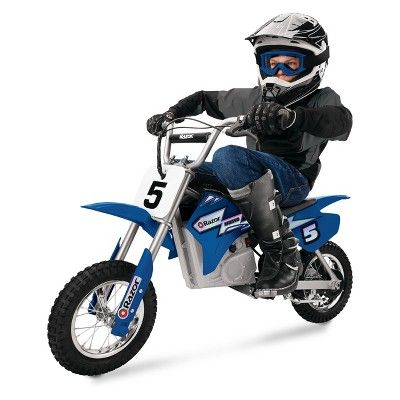 Razor 24v Dirt Rocket Mx350 Electric Bike Blue In 2020 Dirt Bikes For Kids Motocross Bikes Electric Dirt Bike