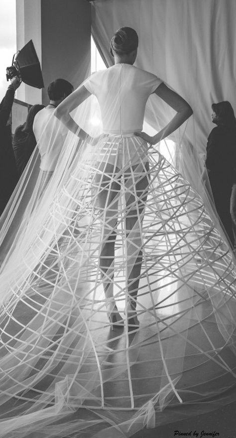 Sculptural Fashion - elegant cage skirt; architectural fashion // Stephane Rolland Spring 2015