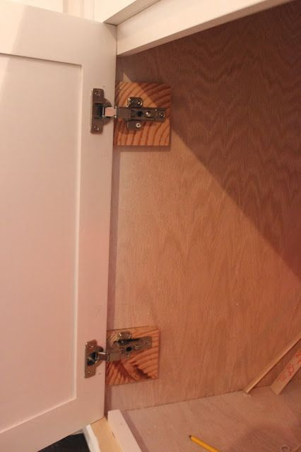 Exposed hinge to hidden hinge   Updating Cabinets - molding ...