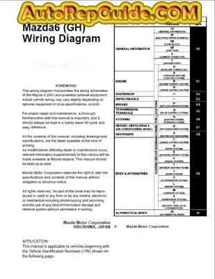 download free  mazda 6 gh wiring diagram 2008full