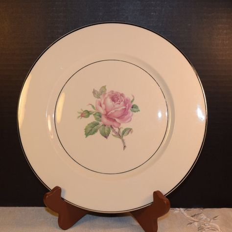 Ancestral Manor Rose Dinner Plate Vintage by ShellysSelectSalvage : shabby chic dinnerware - pezcame.com