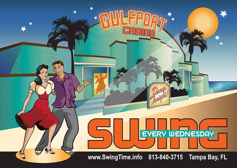 Gulfport Casino Swing Night! Swing Dance Every Wednesday at the Gulfport Casino Ballroom