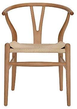 Amazon Com Tomile Wishbone Solid Dining Chairs Rattan Armchair