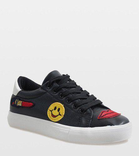 Czarne Trampki Pieczatka Bl75 Black Sneakers Sneakers Classic Shoes