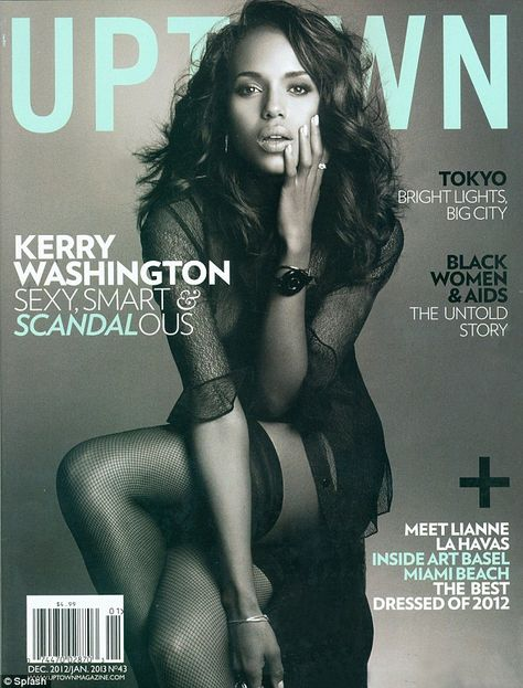 Sultry Kerry Washington is the front cover of Uptown magazine
