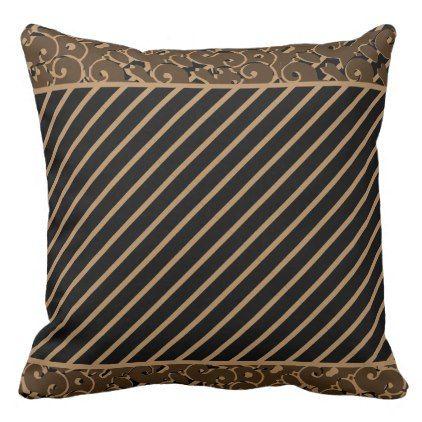 Throw Pillows Designed Light Brown On Black Zazzle Com