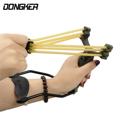 Outdoor Powerful Rubber Band Catapult Slingshot Sling Shot Hunting Games Tool