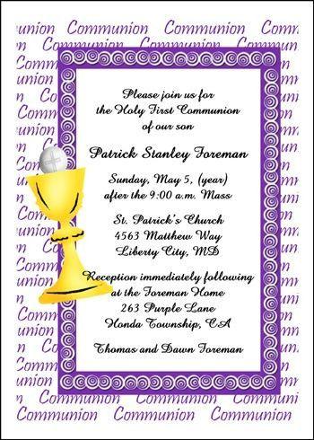 First Communion Invitation Wording Holy Communion Invitations First Communion Invitations Communion Invitation Wording