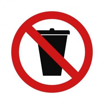 No Trash Bin Icon Png And Vector Graphic Design Background Templates Icon Trash Bins