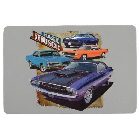 Classic American Muscle Floor Mat Zazzle Com Classic Cars Muscle Cars Car