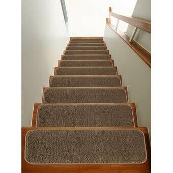 Beaudin 14 Pack Luxury Brown Stair Treads In 2020 Stair Tread | Wayfair Carpet Runners For Stairs | Tucker Murphy | Brown Beige | Hallway Carpet | Wool Rug | Wall Carpet