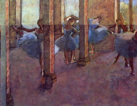 by Edgar Degas Giclee Fine Art Print Reproduction on Canvas 2 Dancers