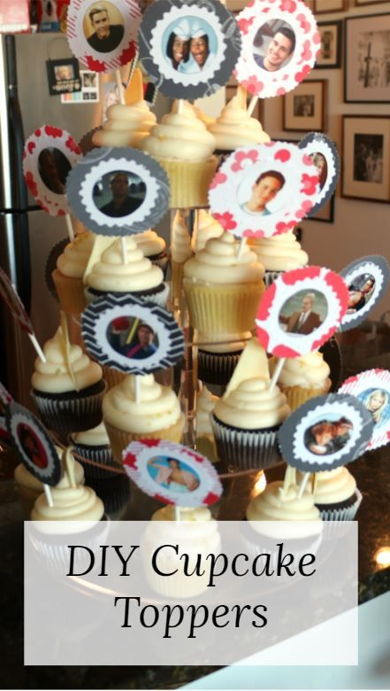 Diy Cupcake Toppers With Images Cupcake Toppers Diy Diy Cupcakes