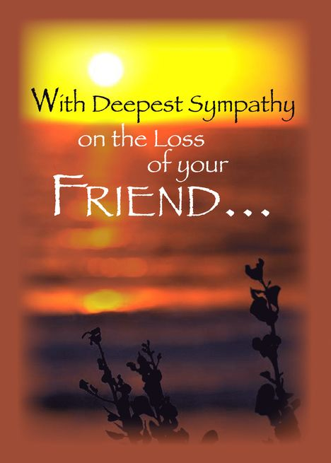 Sunset Sympathy Loss Of Friend Card Ad Affiliate Sympathy Sunset Loss Card Father Sympathy Sympathy Quotes You Are The Father