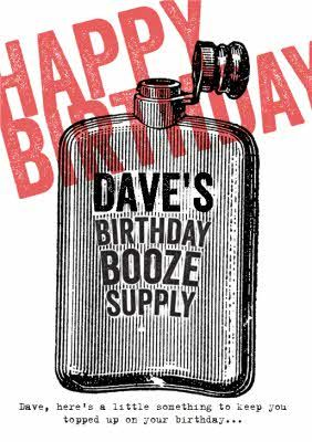 Birthday Booze Supply Personalised Happy Card In 2021 Typography Design Tutorial Happy Cards Brochure Design Template