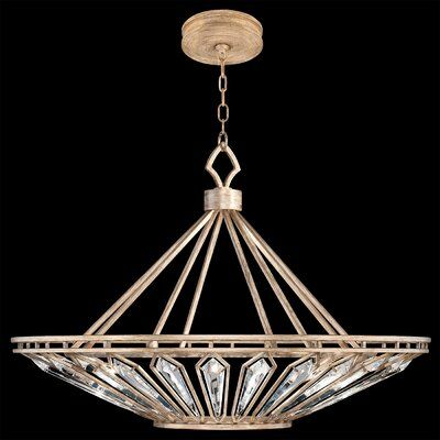 Fine Art Lamps Westminster 13 Light Pendant Finish Gold Fine Art Lamps Crystal Chandelier Bowl Pendant