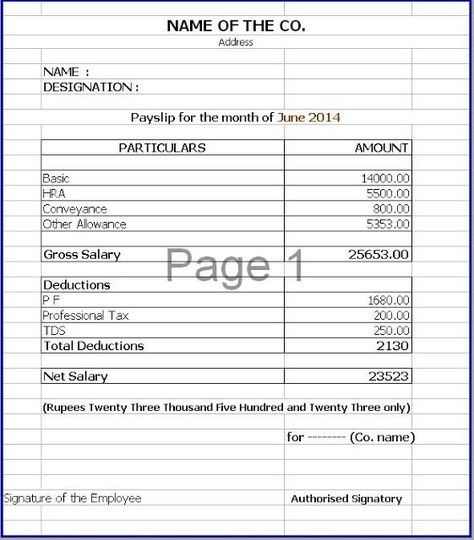 41 Excellent Salary Slip Payslip Template Examples Thogati Thogati   Free  Wage Slip Template  Payment Slip Sample