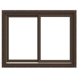 Jeld-Wen Premium Both-Operable Aluminum-Clad Double Pane Annealed Sliding Window (Rough Opening: 48.063-In X 36.563-In;