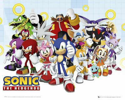 Details About Mini Poster Sonic The Hedgehog Characters In 2020