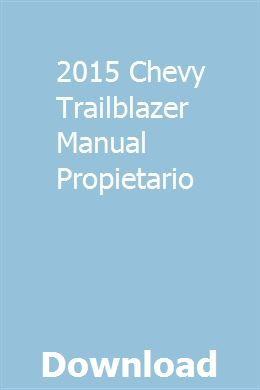 Descargar Manual De Taller Chevrolet Trailblazer Zofti Descargas Gratis