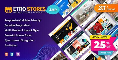 25% OFF on EtroStore Shopify Theme