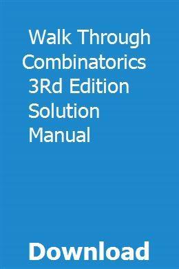 a walk through combinatorics 3rd edition pdf download