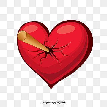Vektor Krasnyj Razbitoe Serdce Mech Pechali Rana Png I Psd Fajl Png Dlya Besplatnoj Zagruzki Heart Hands Drawing Heart Poster Love Heart Illustration