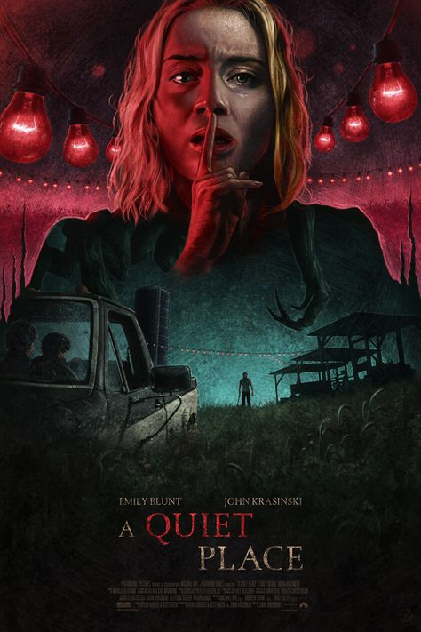 'A Quiet Place' Screen Print, Wolfgang LeBlanc