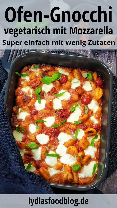 Mit diesem Gnocchi Auflauf mit Tomate und Mozzarella zauberst du in kurzer Zeit italienischen Flair auf deinen Familientisch. Mit wenigen einfachen und günstigen Zutaten hast du im Handumdrehen ein super leckeres und einfaches Gericht gekocht. Ein schnelles vegetarisches Gericht für jeden mit Schritt-für-Schritt und Video Anleitung. #gnocchi #auflauf #tomate #mozzarella #einfach #kinderessen #familienessen #rezept #vegetarisch #lydiasfoodblog