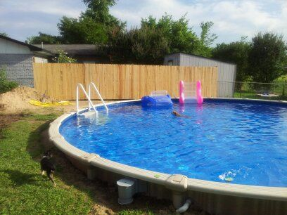 above ground in ground swimming pool the pool is buried 5 ft in the ground and 30 ft across added privacy fence for privacy pinterest privacy fences - Above Ground Pool Privacy Fence Ideas