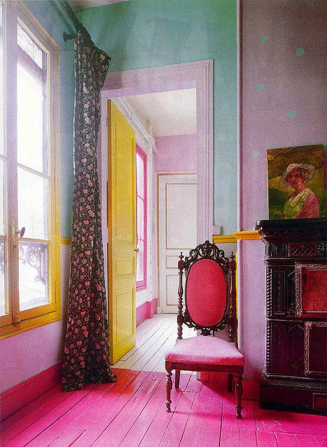 Interior Color. pastel color interior. Marie Claire Maison, via Flickr.