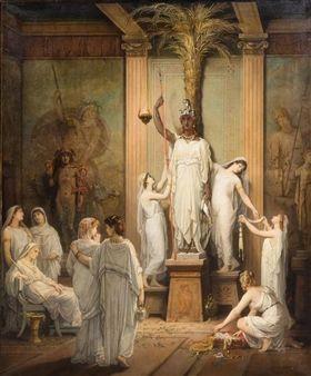 Temple Priestesses Greek Art Classical Art Renaissance Art