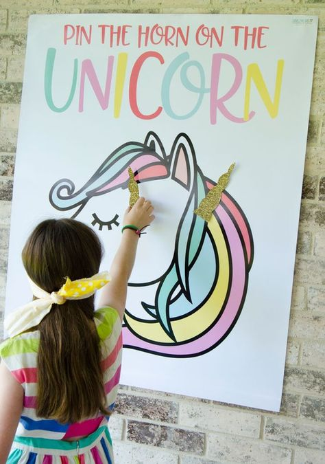graphic regarding Pin the Horn on the Unicorn Printable known as 12 Practices In the direction of Create Your Unicorn Birthday Bash Sparkle!