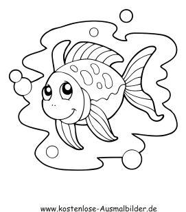 Ausmalbild Fisch Im Wasser 1 Ausdrucken Ausmalbilder Malvorlagen Tiere Ausmalbilder Zum Ausdrucken