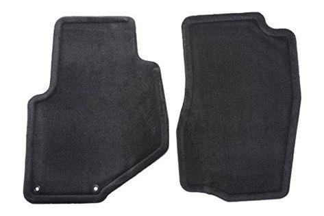Nylon Carpet Coverking Custom Fit Front Floor Mats for Select GMC Yukon XL Models Black