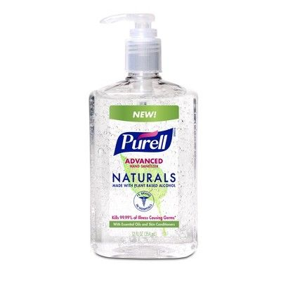 Purell Naturals Hand Sanitizer 8oz Hand Sanitizer Natural