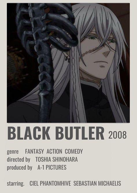 Black Butler Polaroid Poster