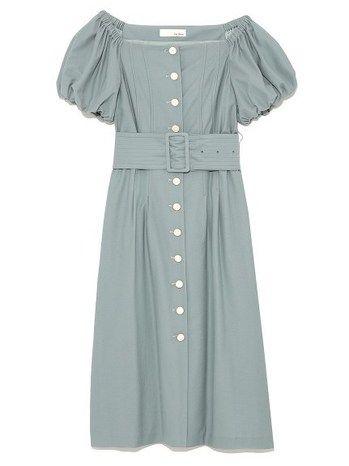 f3c3f25c8ff824 リリーブラウン(Lily Brown) 前ボタンオフショルワンピース MNT ファッション›レディース›ワンピース