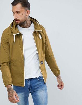 Pull Bear Hooded Jacket In Khaki Mens Spring Jackets Jackets Hooded Jacket