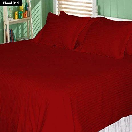 Red Stripe Duvet Cover Set With Fitted Sheet Sateen Comfy Striped Duvet Covers Twin Bed Sets Red Duvet Cover