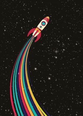 Spaceship By Carlos Valmont Metal Posters Displate Kid Explore Pinterest Kid Kidroom Dis Spaceship Drawing Drawing Wallpaper Spaceship Illustration