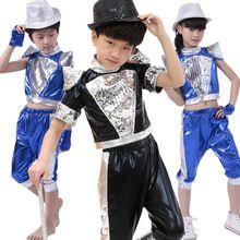 1263aec5a1156 20 unids lote Envío Libre de Lentejuelas Niños Ropa Jazz Hip Hop Dance Wear Niños  Niños Niñas Etapa Trajes De Baile De Salón Ropa(China (Mainland))