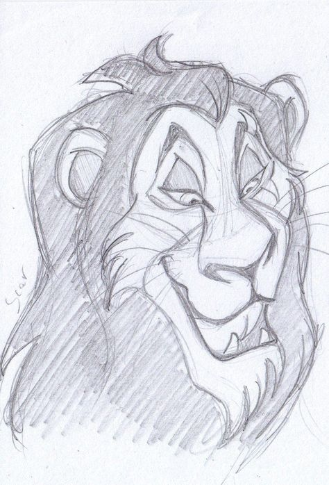 #disney #sketch #scar #lion #king #thedisney sketch - scar, the lion king 1994