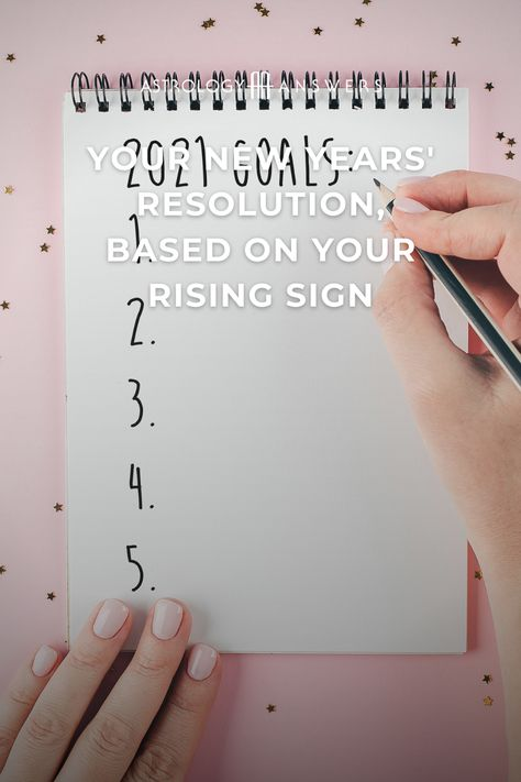 What should your 2021 New Year's resolution be, based on your Rising sign? 🎉 #newyears #newyearsresolutions #2021resolutions #astrology #astrologyrising #astrologysigns #2021resolutions #resolutions